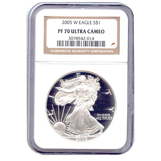 Certified Proof Silver Eagle 2005 PF70 NGC