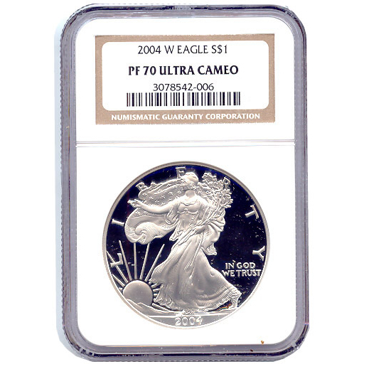 Certified Proof Silver Eagle 2004 PF70 NGC