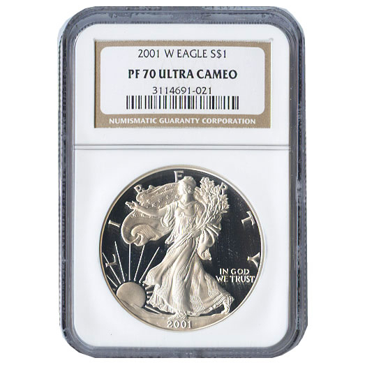 Certified Proof Silver Eagle 2001 PF70 NGC