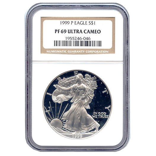 Certified Proof Silver Eagle PF69 1999