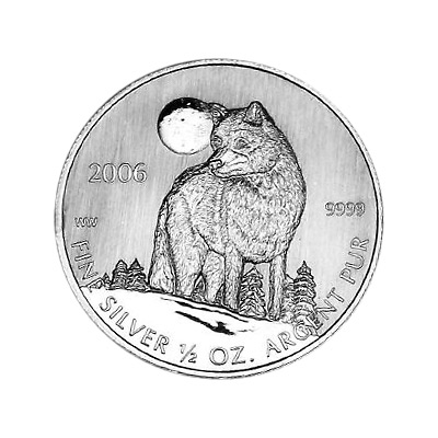 Canadian Silver Half Ounce Timber Wolf 2006