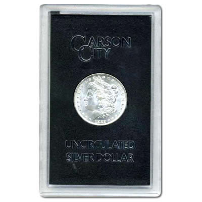 **SALE** Carson City Morgan Silver Dollar 1882-CC Uncirculated GSA
