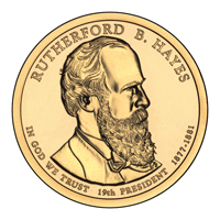 Presidential Dollars Rutherford B Hayes 2011-P 25 pcs (Roll)