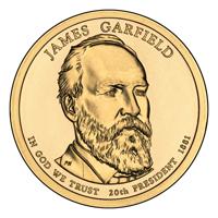 Presidential Dollars James Garfield 2011-D 25 pcs (Roll)