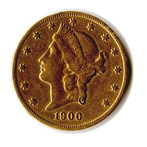 Early Gold Bullion $20 Liberty Jewelry Grade