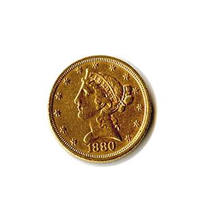 Early Gold Bullion $5 Liberty Jewelry Grade