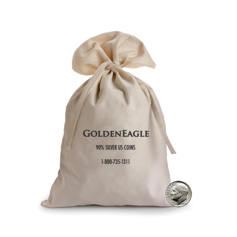 90% Silver Bag Roosevelt Dimes $1000 Face (10000 pcs.)