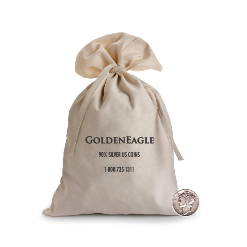 90% Silver Bag Mercury Dimes $1000 Face (10000pcs.)