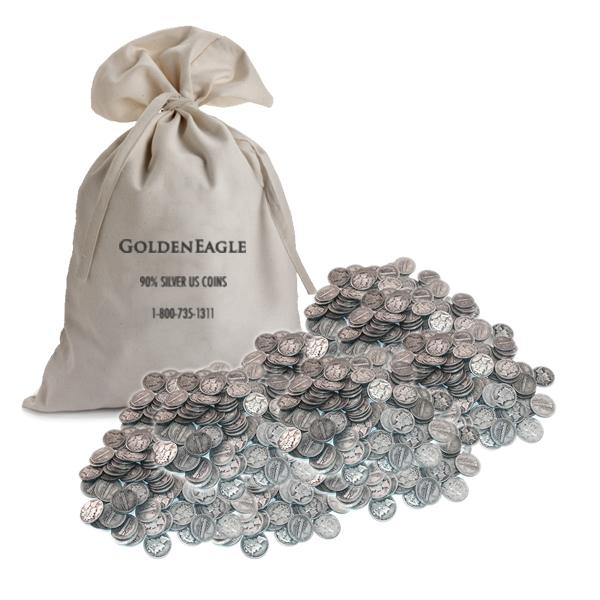 90% Silver Mercury Dimes 1000 pcs.