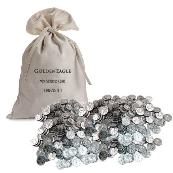 90% Silver Washington Quarters 1000 pcs.