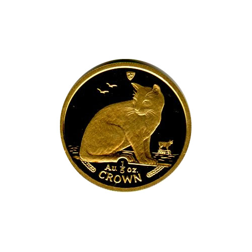 Isle of Man Gold Cat Fifth Ounce 1990