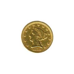 Early Gold Bullion $2.5 Liberty Jewelry Grade