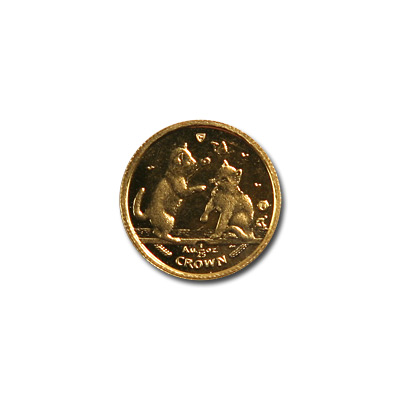 Isle of Man Gold Cat 25th Ounce 2004