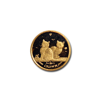 Isle of Man Gold Cat 25th Ounce 2003