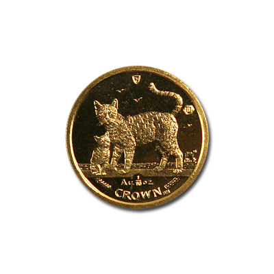 Isle of Man Gold Cat Tenth Ounce 2002