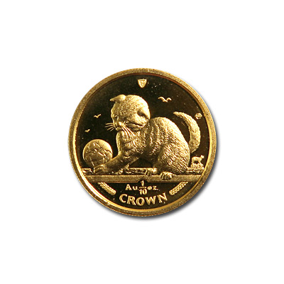 Isle of Man Gold Cat Tenth Ounce 2000