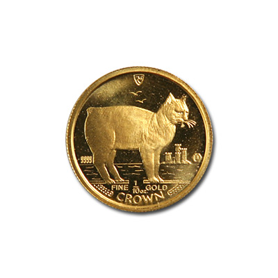 Isle of Man Gold Cat Tenth Ounce 1988