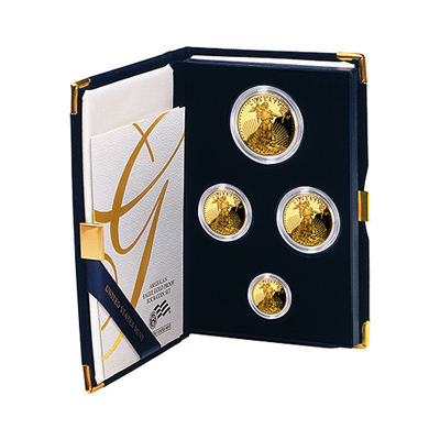 Proof American Gold Eagle 4pc Set In Box (Date Of Our Choice)
