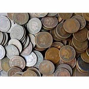 Indian Head Cents Good or Better 5,000 pieces