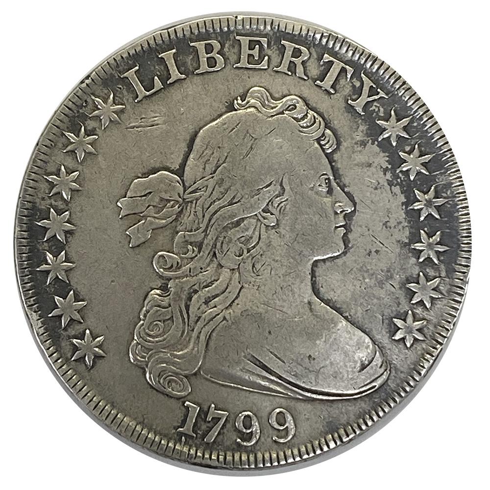 Bust Dollar 1799 7x6 Stars w/ berries Very Fine