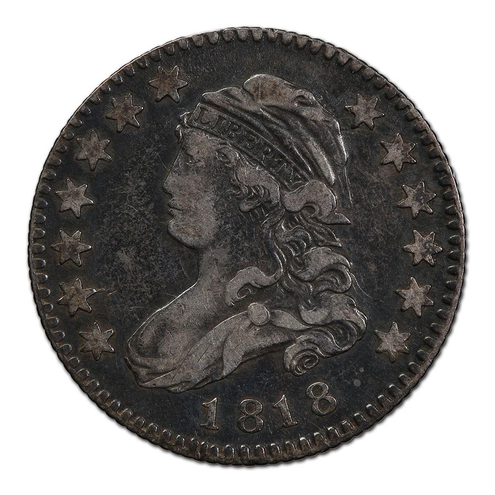 Capped Bust Quarter 1818 VF