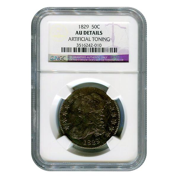 Certified Bust Half Dollar 1829 AU Details NGC