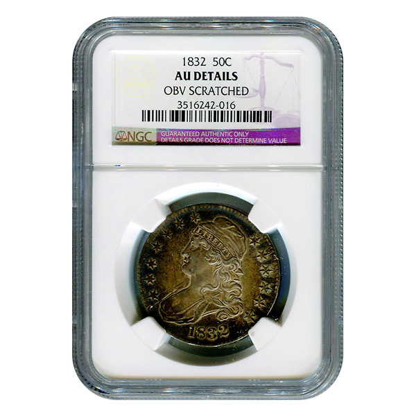 Certified Bust Half Dollar 1832 AU Details NGC