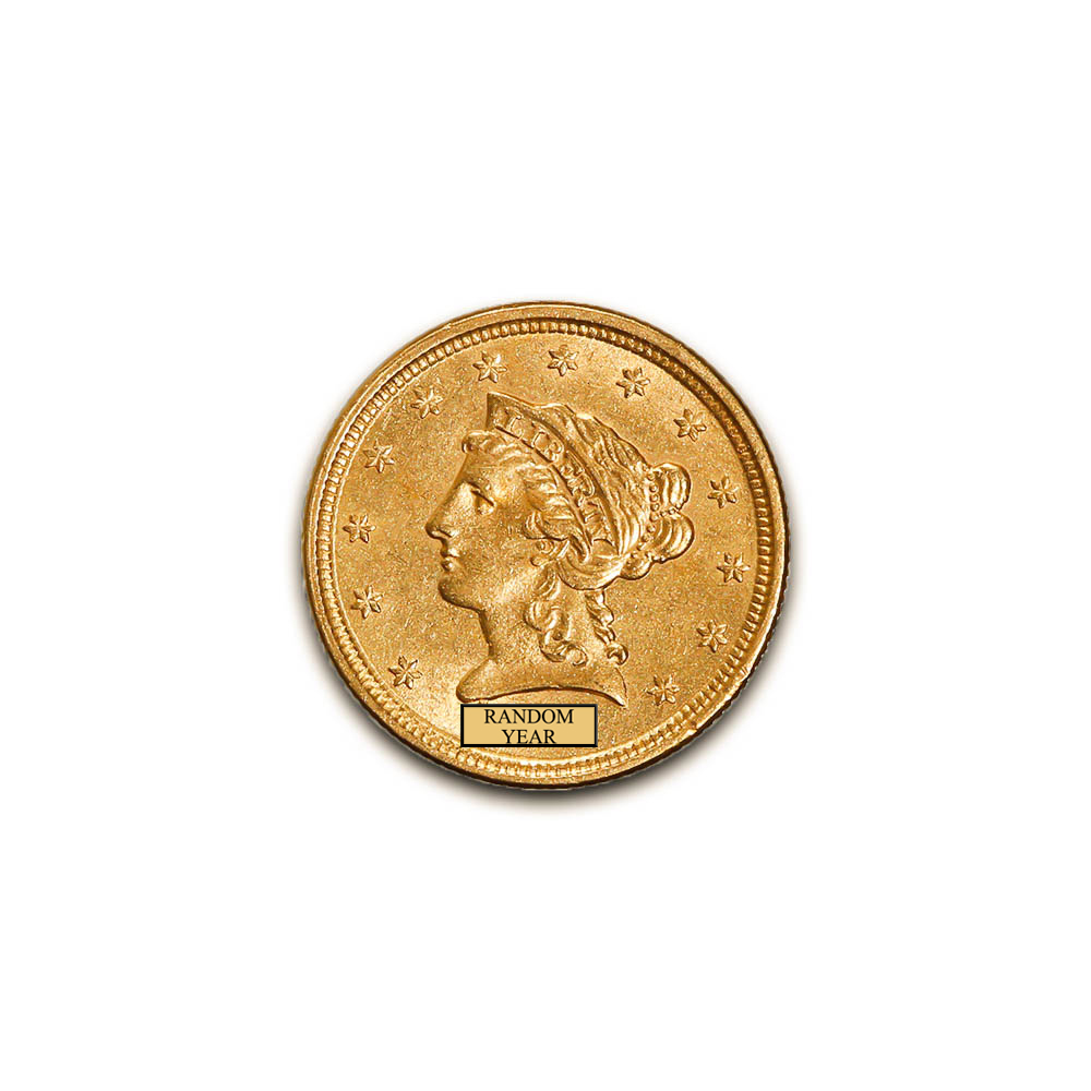 Early Gold Bullion $2.5 Liberty Almost Uncirculated