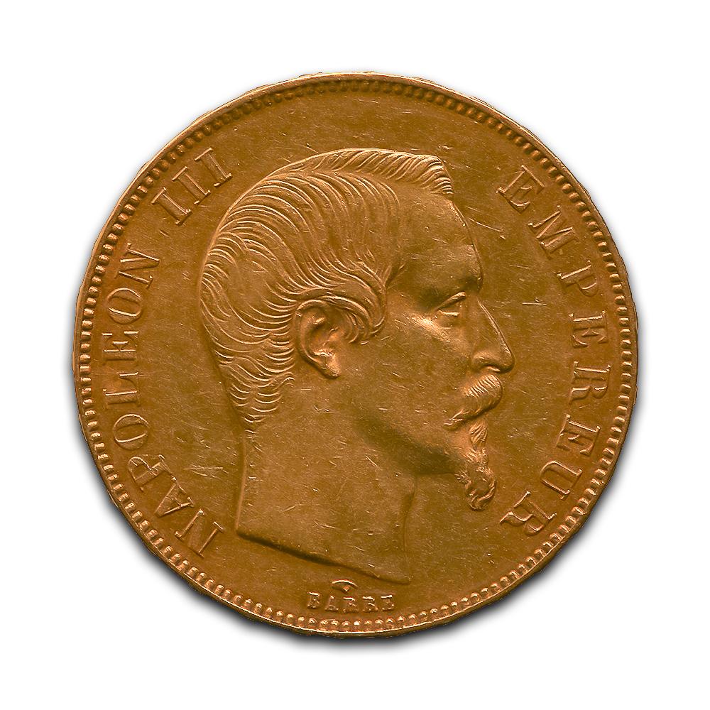 France 50 francs gold 1855A-1859A Napoleon III