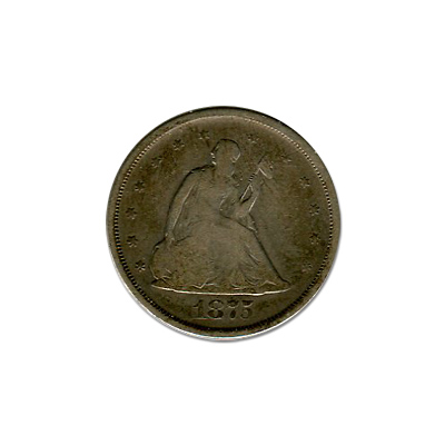 1875-S Seated Liberty 20 Cent Piece Fine