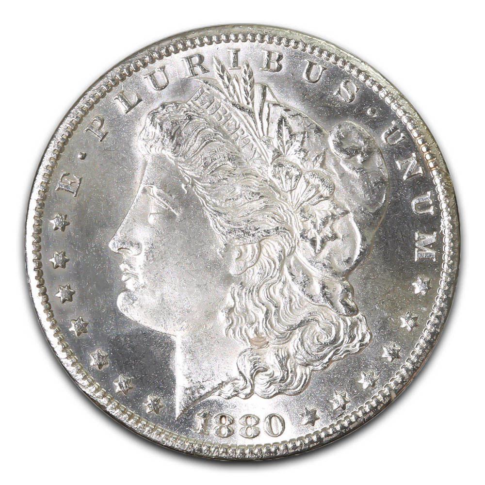 Morgan Silver Dollar Uncirculated 1880-CC