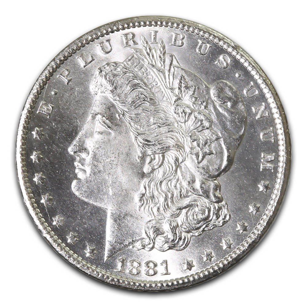 Morgan Silver Dollar Uncirculated 1881-CC