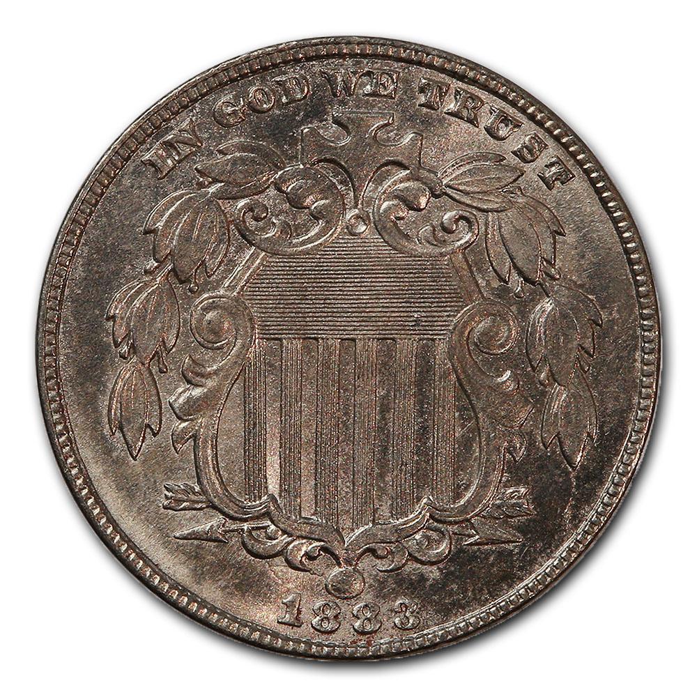 U.S. Shield Nickel 1883 Uncirculated