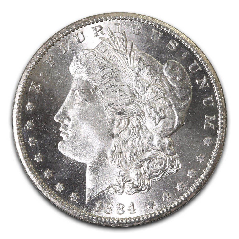 Morgan Silver Dollar Uncirculated 1884-CC