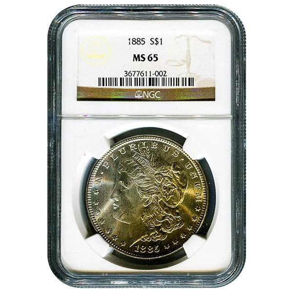 Certified Morgan Silver Dollar 1885 MS65 NGC