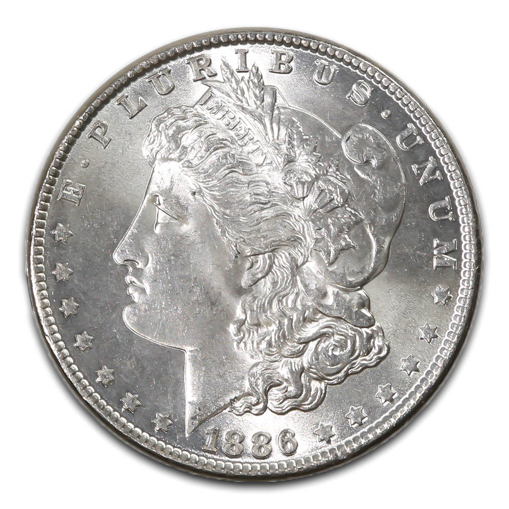 Morgan Silver Dollar Uncirculated 1886