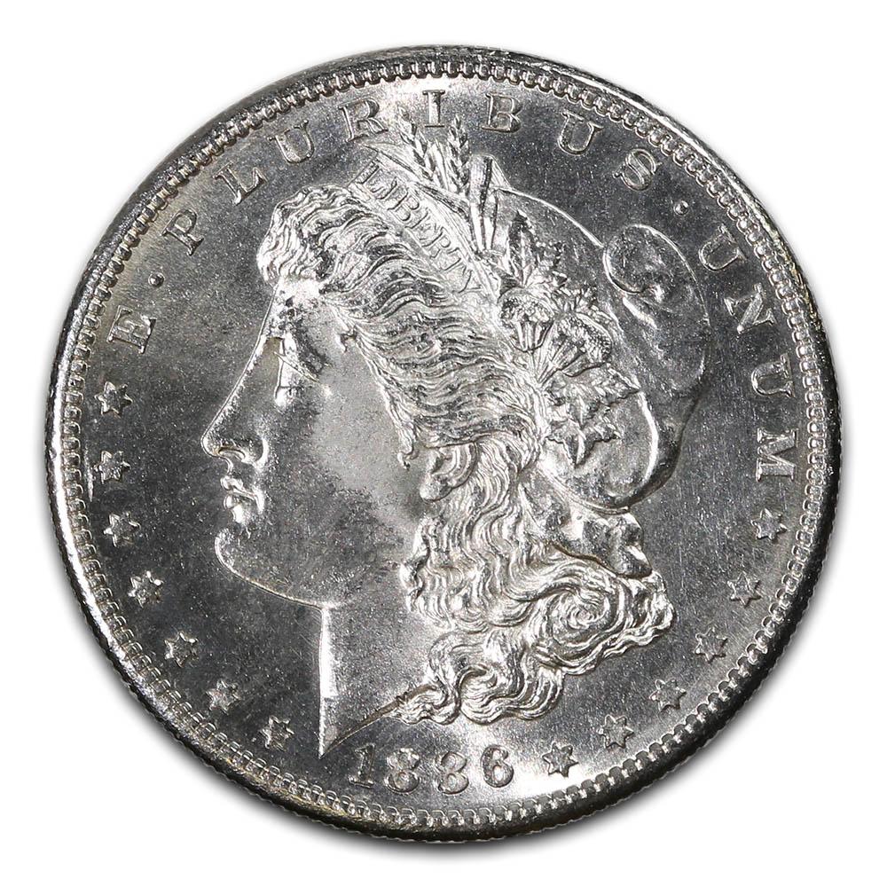 Morgan Silver Dollar Uncirculated 1886-S