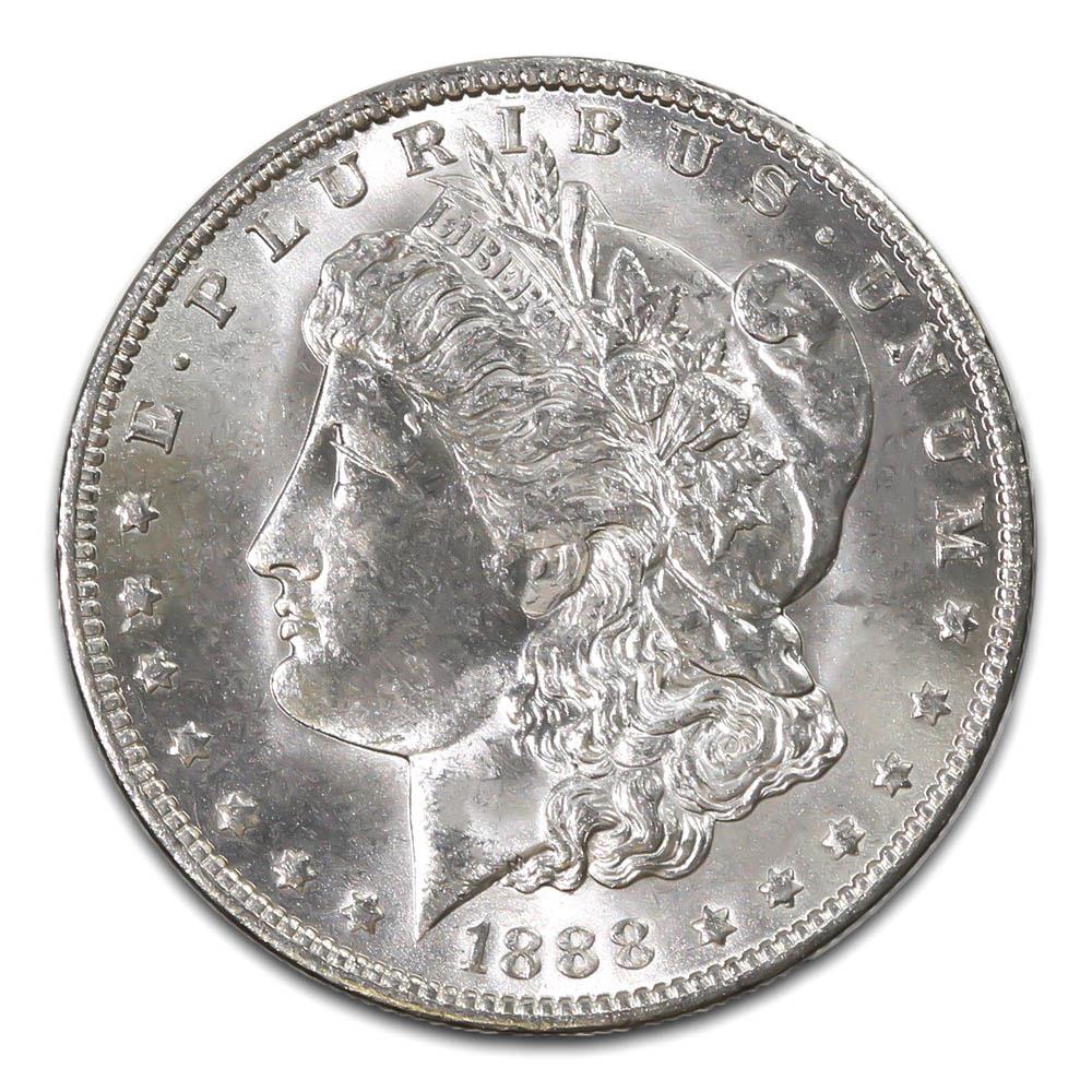 Morgan Silver Dollar Uncirculated 1888-O