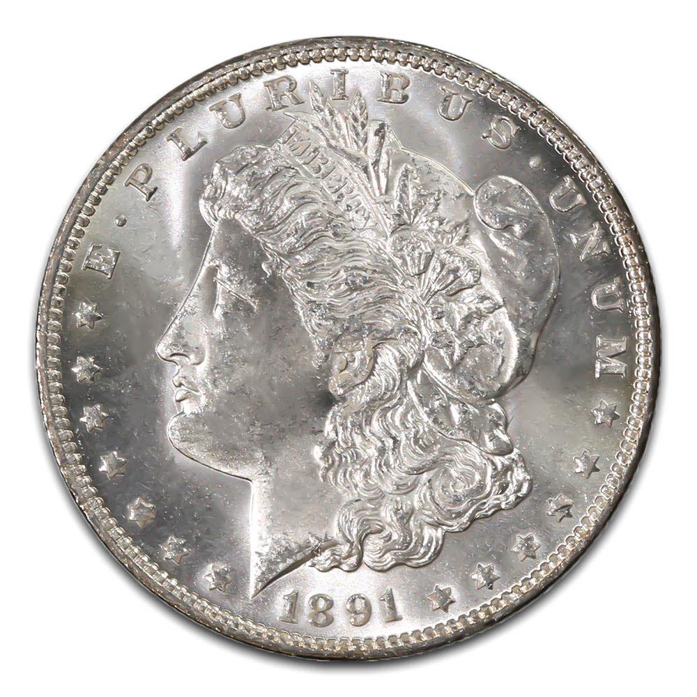 Morgan Silver Dollar Uncirculated 1891