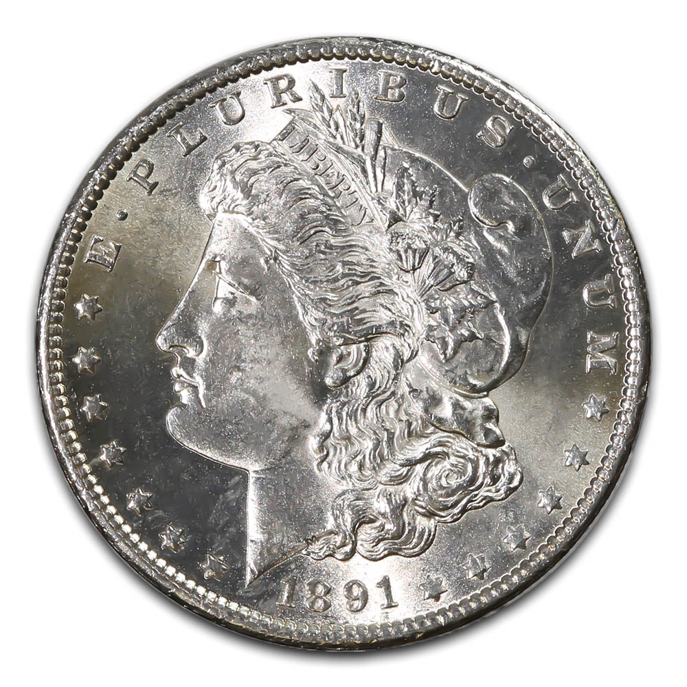 Morgan Silver Dollar Uncirculated 1891-S