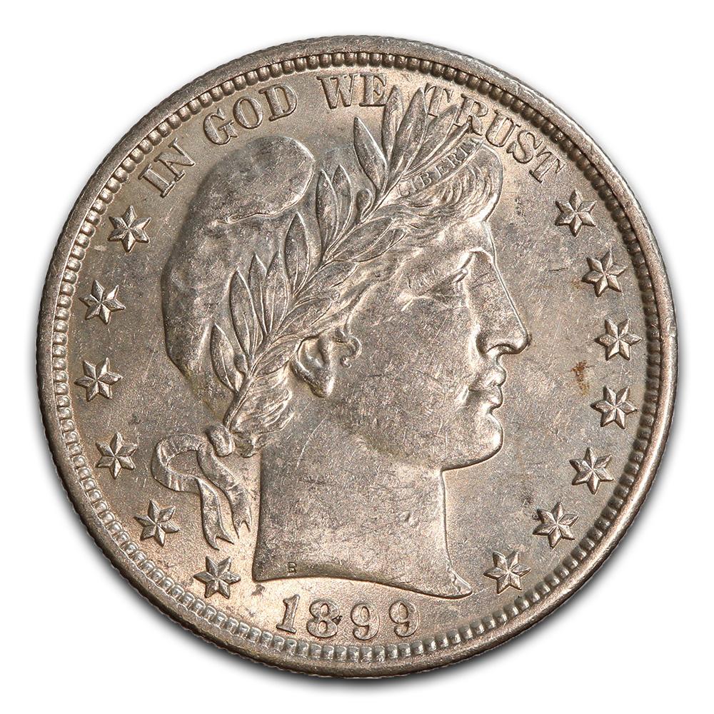 Barber Half Dollar Almost Uncirculated 1899