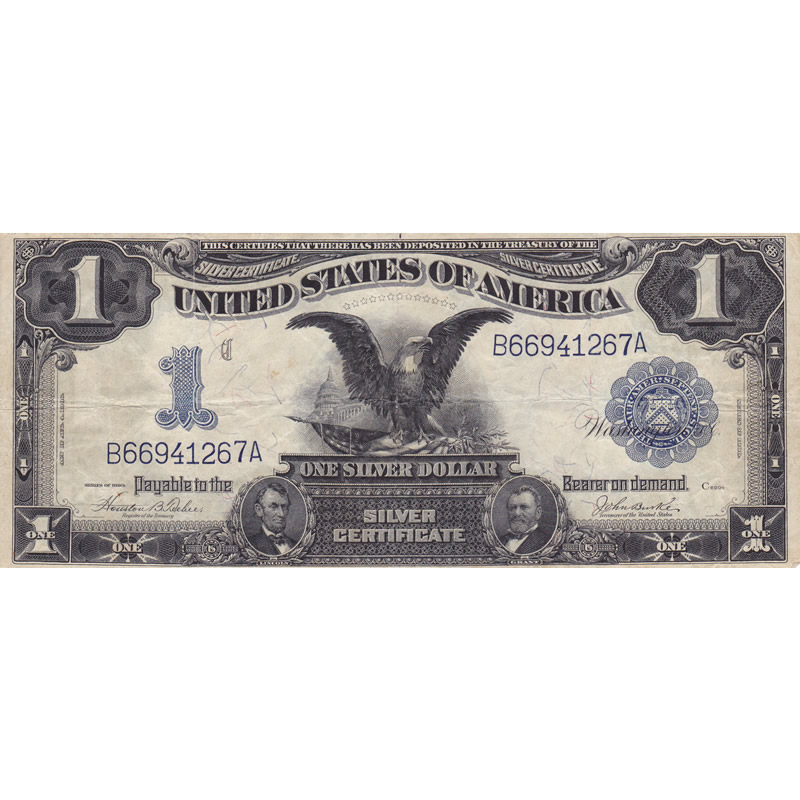 1899 $1 Silver Certificate (Black Eagle) XF
