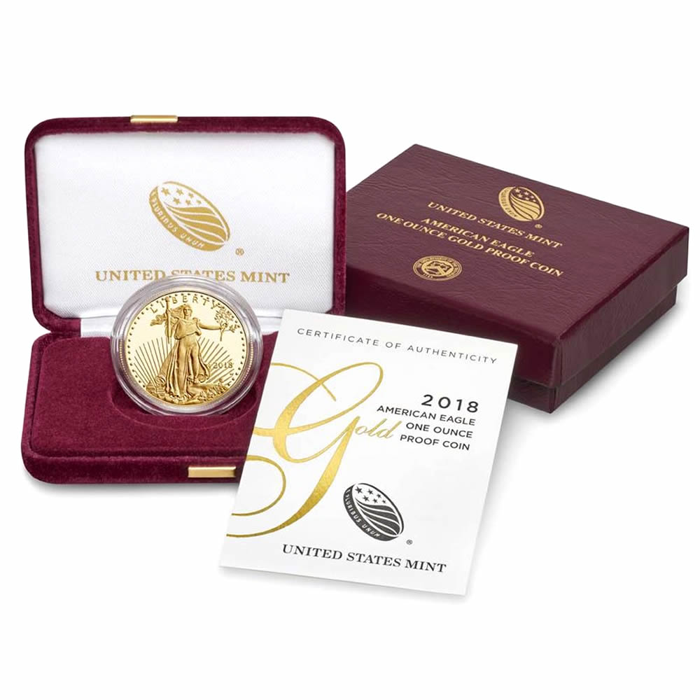Proof American Gold Eagle One Ounce 2018