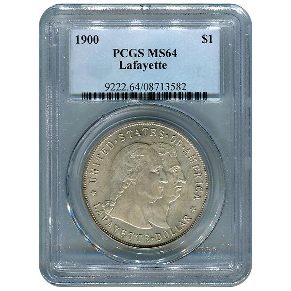 Certified Commemorative Dollar Lafayette MS64 PCGS (Toned)