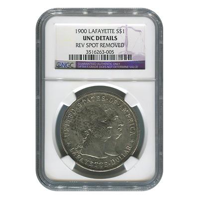 Certified Commemorative Dollar Lafayette 1900 UNC Details NGC