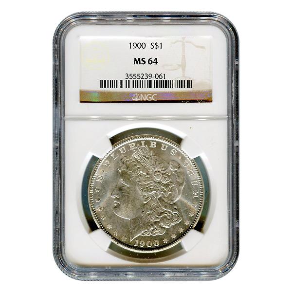 Certified Morgan Silver Dollar 1900 MS64 NGC