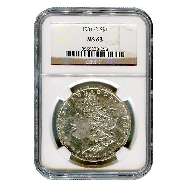 Certified Morgan Silver Dollar 1901-O MS63 NGC