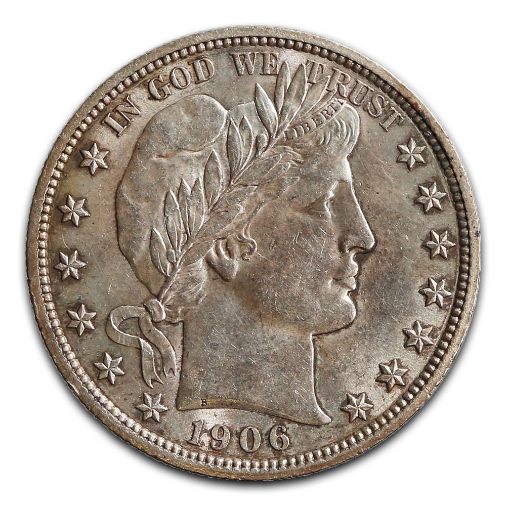 Barber Half Dollar AU-UNC 1906
