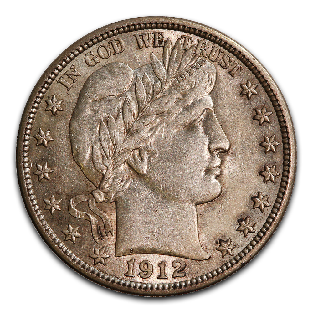 Barber Half Dollar Almost Uncirculated 1912