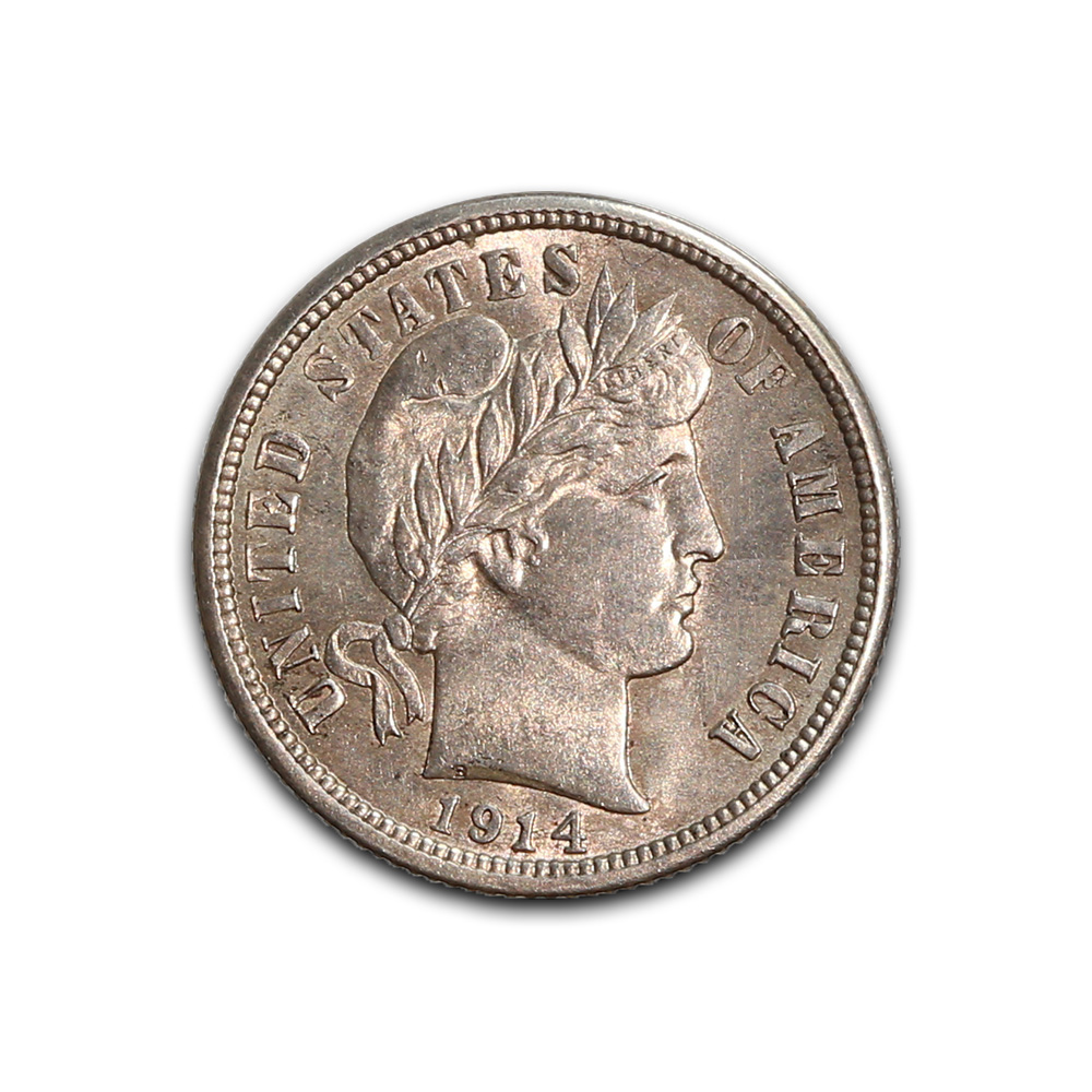US Barber Dime Uncirculated 1914